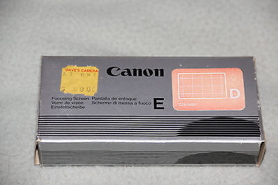 CANON  FOCUSING SCREEN E - D with plastic box  for EOS 620 650  NEW