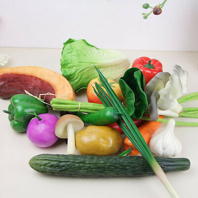 Artificial Plastic Fake Fruit Vegetables Decor Home Garden House Parlor Decor