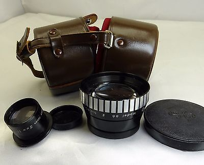 Sun Auxiliary Bay-1 B-1  Telephoto Lens – Model 66 W/ Case for TLR camera