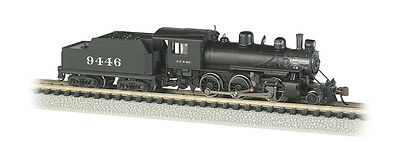 ATSF Alco 2-6-0 Mogul Steam Locomotive #9446 w/Decoder DCC N-Scale