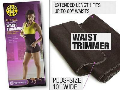 "New Gold's Gym PLUS SIZE Waist Trimmer Belt Adjustable Exercise 60"" x 10"""