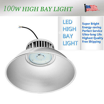 1 × 100W LED High Bay Light Bright White Lamp Lighting Factory Fixture Industry