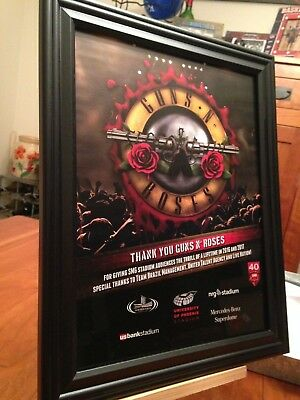 "4 BIG 10x13 FRAMED GUNS N ROSES 2017 ""NOT IN THIS LIFETIME"" TOUR LP CD PROMO ADS"