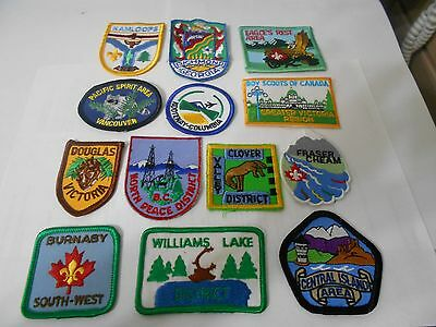 (Rb7-R)  Thirteen Listed Canadian Scout Badges