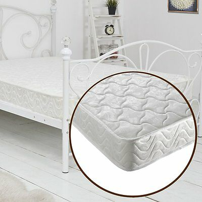 4FT6 Double Quilted Memory Foam Reflex Orthopaedic Sprung Mattress