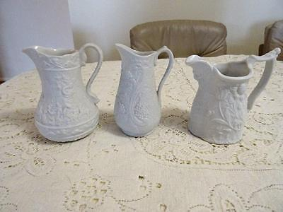 3 Portmeirion Parian Jugs  Grapes Hannibal & Floral With  Face Mask