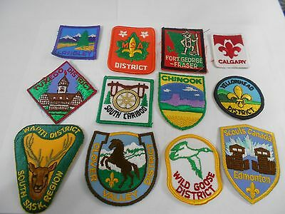 (Rc4-R) Twelve Listed Canadian Scout Badges     Canadian Scout Badges