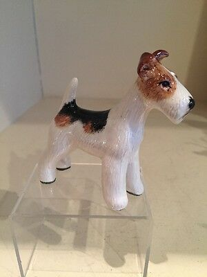 A Charming  And Handmade Model Of A FOX TERRIER  By Miranda Smith Signed