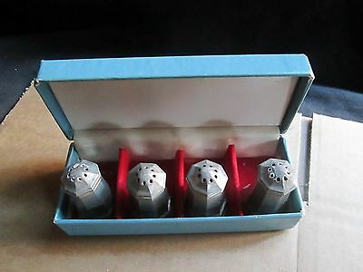 Gorham Pewter Salt & Pepper Shakers Boxed