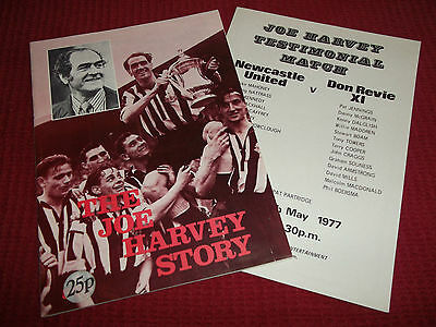 Joe Harvey Newcastle United 1977 Football Testimonial Brochure & Programme Revie