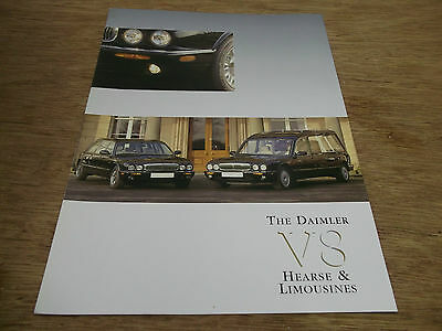 Brochure. The Daimler V8 Hearse & Limousines. Includes Specifications. c2012.