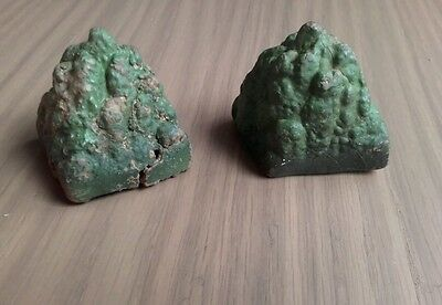 2 xvintage Scalextric A231 rubber bush scenery