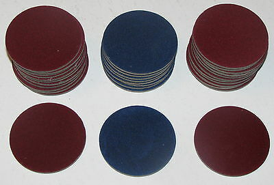 Vintage Gambling Round Blue & Red Table Markers