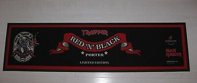 Iron Maiden Trooper Red'n'black Limited Edition Rubber Backed Bar Runner
