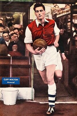 Football Photo CLIFF HOLTON Arsenal 1950s