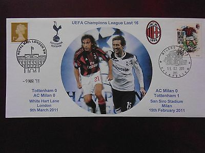Tottenham Hotspur V Ac Milan Ucl 2011  First Day Cover