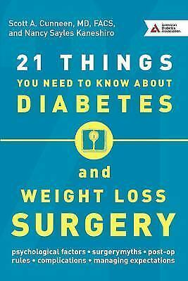 21 Things You Need to Know about Diabetes and Weight-Loss Surgery (Paperback or