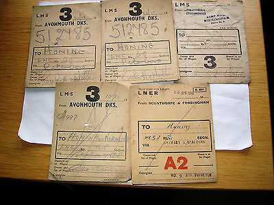 Railway Labels To Honing Norfolk 1940S