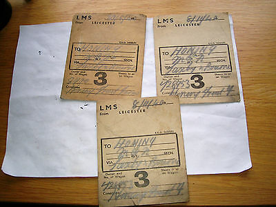 Railway Labels To Honing Norfolk From Leicester