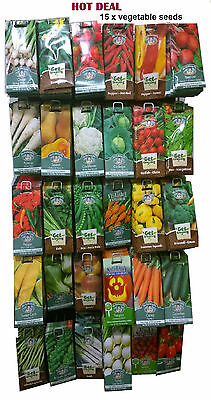 15 x Vegetables,herbs,salad and flowers seeds packets    .