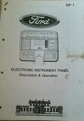 Ford Tractor Electronic Instrument Panel Info
