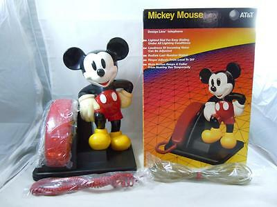 Walt Disney Mickey Mouse Design Line At&t Phone W/box & Instructions Complete