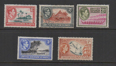 Solomon Islands, KG6 & QE2 selection iof 5 mint & used.