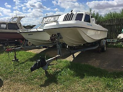 Wilson Flyer Best Quality Fishing Boat approx 18ft Quick sale ready to Tow away.