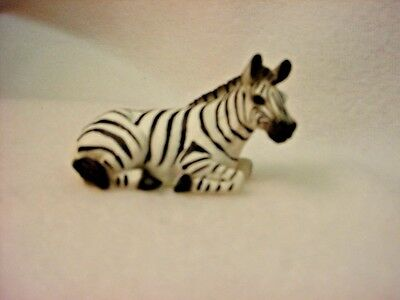 ZEBRA Figurine TiNY ANIMAL Statue HAND PAINTED MINIATURE Mini Collectible Safari