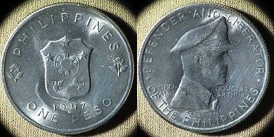 Philippines : 1947S 1 Peso Gem BU Beautiful  #185  IR5074