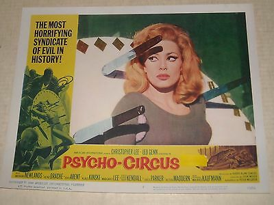 American International 1967 PSYCHO CIRCUS MOVIE LOBBY CARD 2 CHRISTOPHER LEE