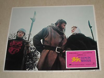 Avco Emb 1975 The LION in WINTER Re Release MOVIE LOBBY CARD 1 KATHERINE HEPBURN