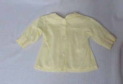 Vintage 50s Baby Newborn top blouse Yellow Smocking Doll