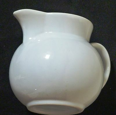 2 OF  1 pt KITCHEN WHITE JUGS  PORCELAIN CHINA FULLY GLAZED 12CM X 9CM  R/ PRICE
