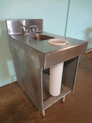 Stainless Steel Under Counter Hand Wash Sink W/ Faucet, Back Splash Guard