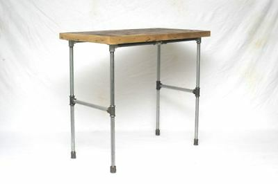 Altholz Upcycling Beistelltisch  Stahlrohr  Loft shabby industrial Tube table