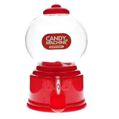 Red Practical Candy Dispenser Machine Gumball Ball Snacks Storage Box