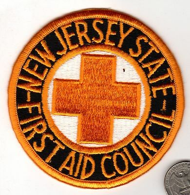 New Jersey State First Council Aid EMT Fire Deptartment Patch
