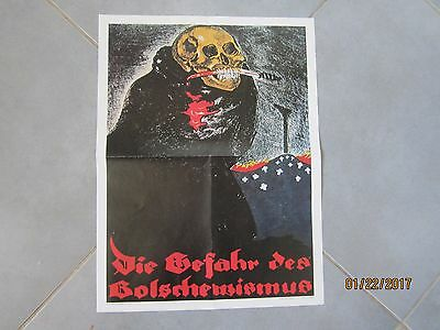 Ww2 Poster Propagande Guerre 39/45 (Ancienne)