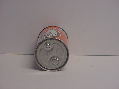 Vintage Push Button Weight Watchers Orange Soda Can Straight Steel Bottom Opened