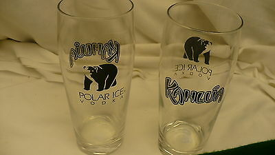 Kahlua Polar Ice vodka  pair white russian drink glasses pair glass 20 ounces