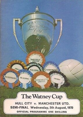 70/71 HULL CITY v. MANCHESTER UNITED - Watney Cup.