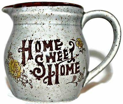 60s Vintage Home Sweet Home Creamer Made in Japan Ceramic Pitcher EUC