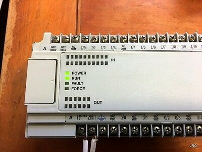 (1) AB Allen Bradley MicroLogix 1000 PLC with Cable 1761-L32AWA SERIES E FRN 1.0