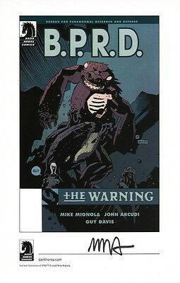 Mike Mignola Hellboy SIGNED Comic Art Print ~ BPRD The Warning Dark Horse Promo