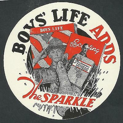1944? Boys Life Label / Seal Boy Scout United States Adds The Sparkle