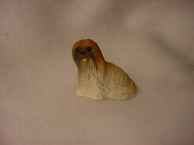 LHASA APSO brown puppy TiNY DOG Figurine HANDPAINTED MINIATURE Mini Resin Statue
