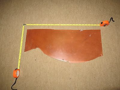 TAN   VEG TAN BRIDLE BUTT  OFF CUT -  SADDLERS  LEATHER  5mm THICK - HARD - FIRM