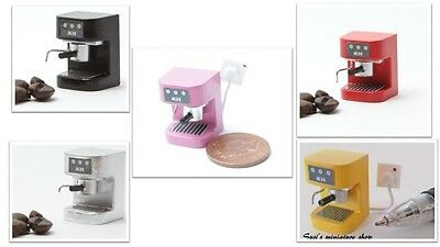 1:12 dolls house miniature modern kitchen espresso machine 5 to choose from.