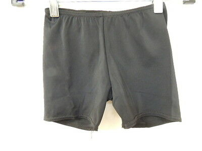 Balera Size S SMALL Solid Black DANCE STRETCH Shorts NWOT